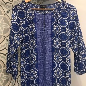 The Limited Women's Blue Print Blouse XS